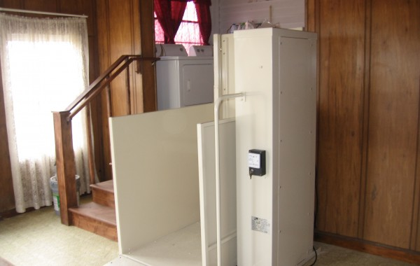 Mac's Vertical Home Lift PL-50 w/ ADA Package & top landing gate