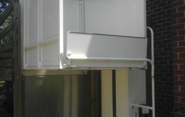 Mac's Vertical Home Lift PL-72 w/ solid sides & top landing gate