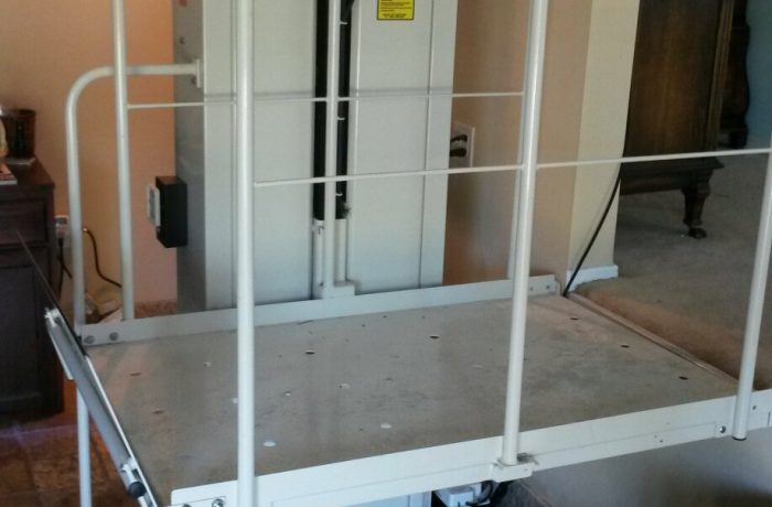 Mac's Vertical Home Lift PL-50 installed inside home