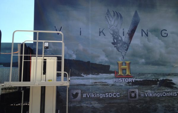 Mac's Event Rental PL-50 at Comic Con – Vikings Booth